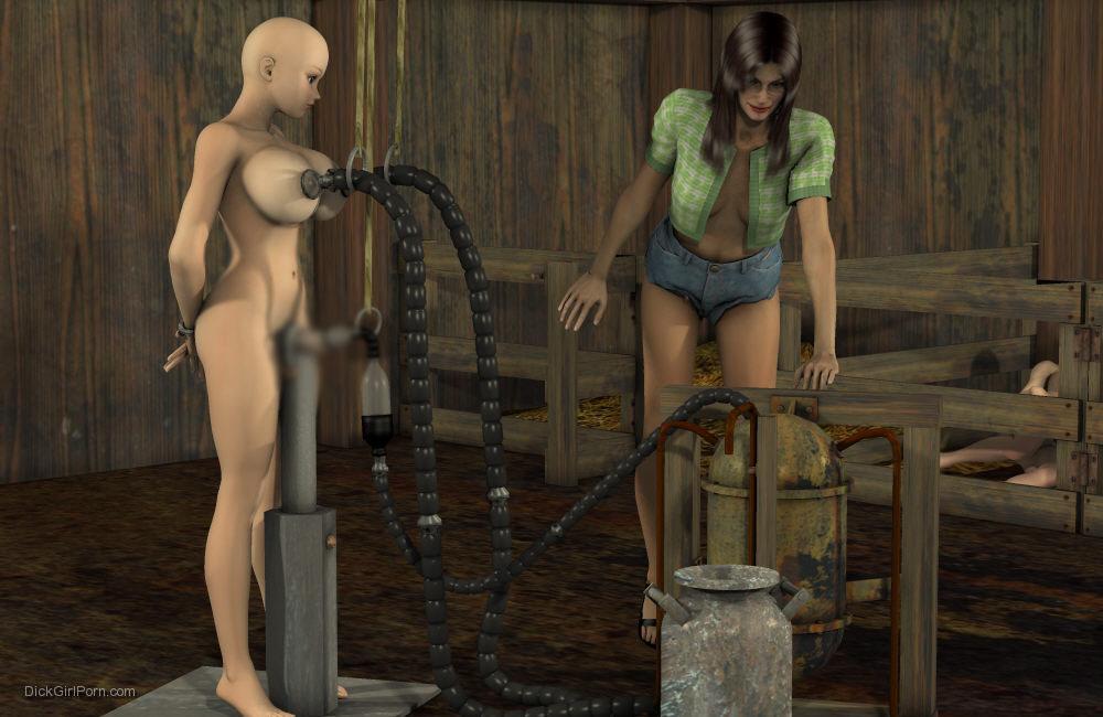 【二次エロ画像】この技術は無駄!?3Dでふたなり娘を性的調教www 26