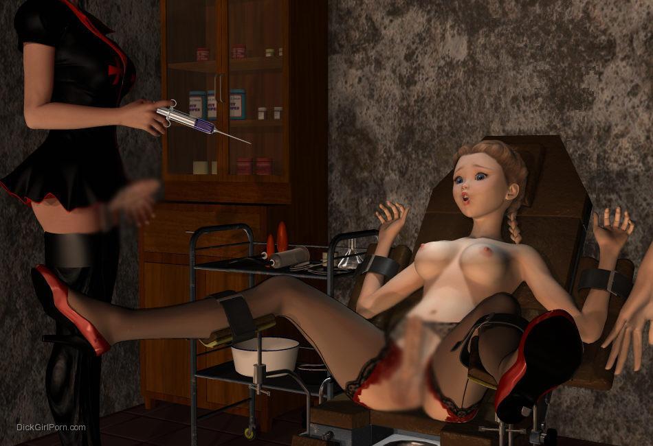 【二次エロ画像】この技術は無駄!?3Dでふたなり娘を性的調教www 27