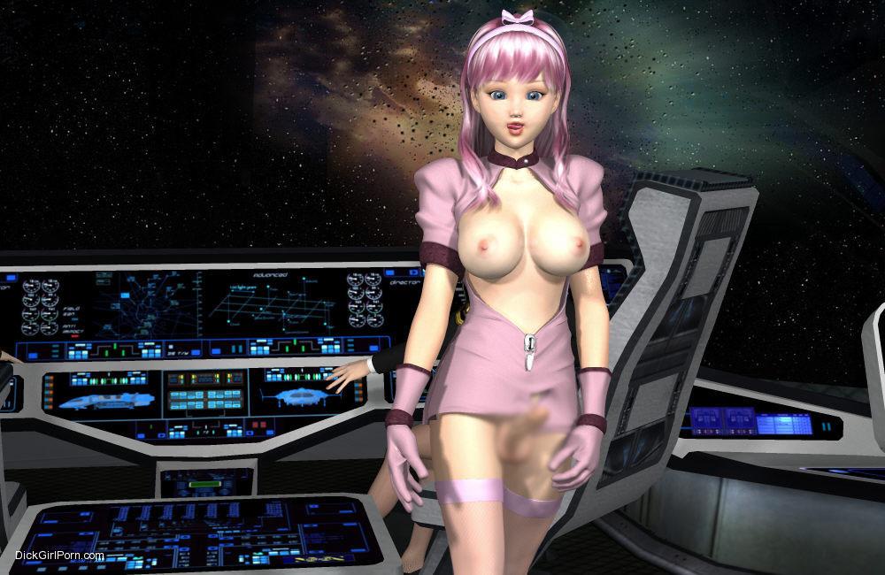 【二次エロ画像】この技術は無駄!?3Dでふたなり娘を性的調教www 29