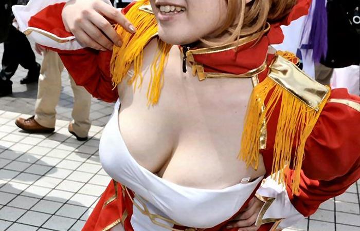 【コスプレエロ画像】けしからん乳だらけ…揉みたいリストに入る巨乳レイヤー達www 001