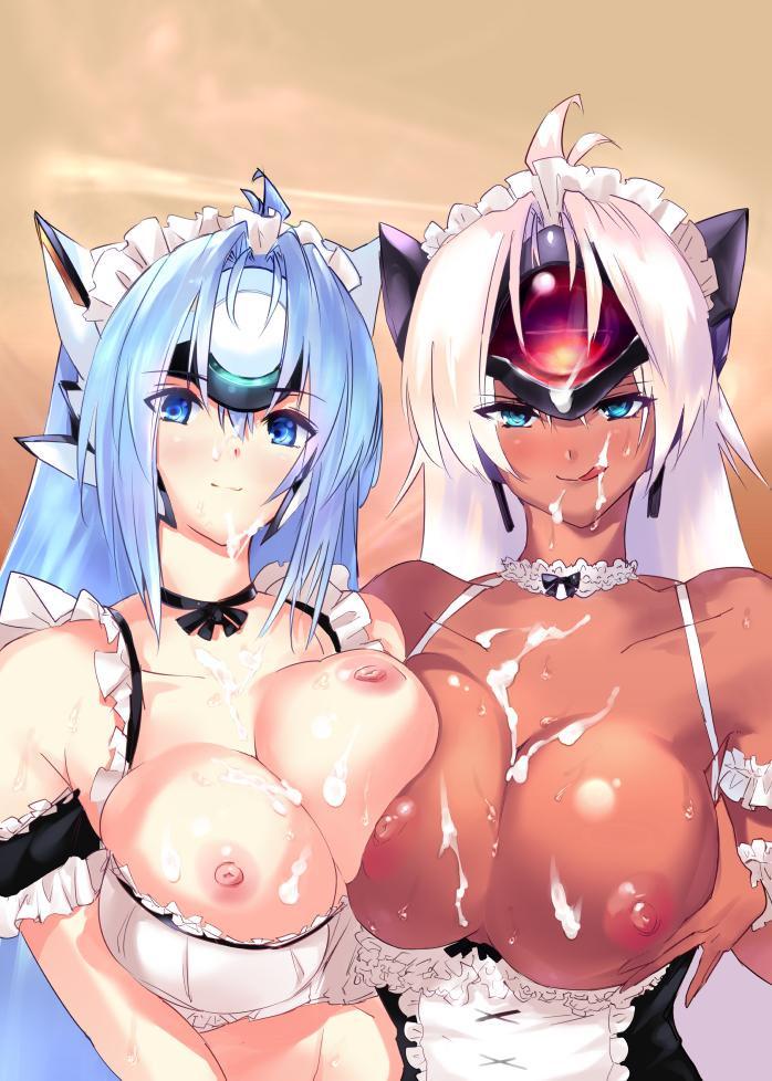 【二次エロ画像】洗い流すの大変そう…顔も体もザー汁まみれの美少女たちwww 02