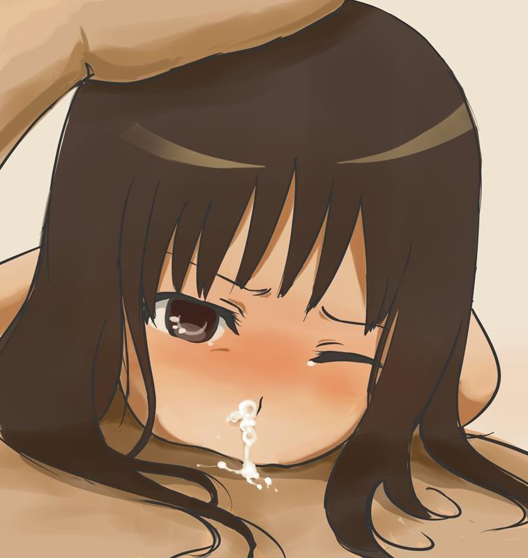 【二次エロ画像】喉のどこまでブチ込まれて…物理法則は無視のディープスロートwww 06