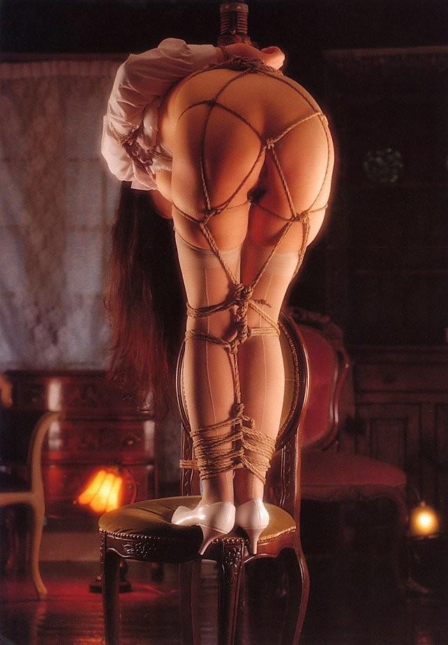 【SMエロ画像】解くの勿体ないほど卑猥で芸術的な女体緊縛の図www 15