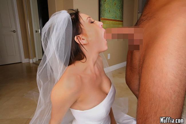 【海外エロ画像】初夜から寝取られとは…肉欲まみれの花嫁さんwww 21