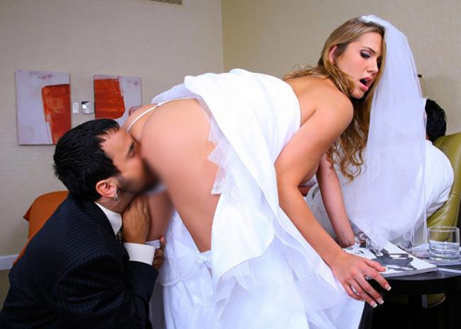 【海外エロ画像】初夜から寝取られとは…肉欲まみれの花嫁さんwww 22