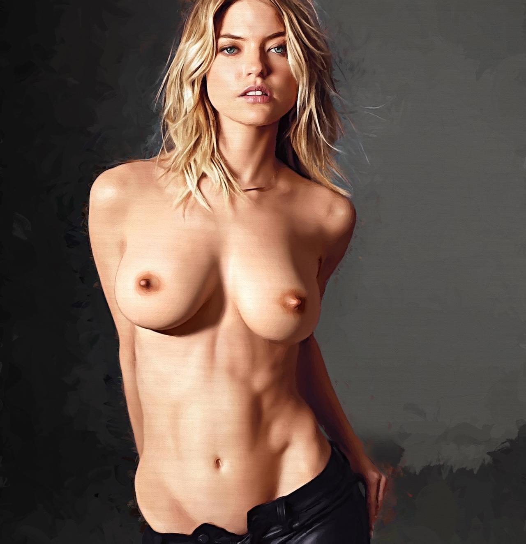 【二次エロ画像】写真みたい…立体感が生々しい油絵風の外人美女CGwww 10