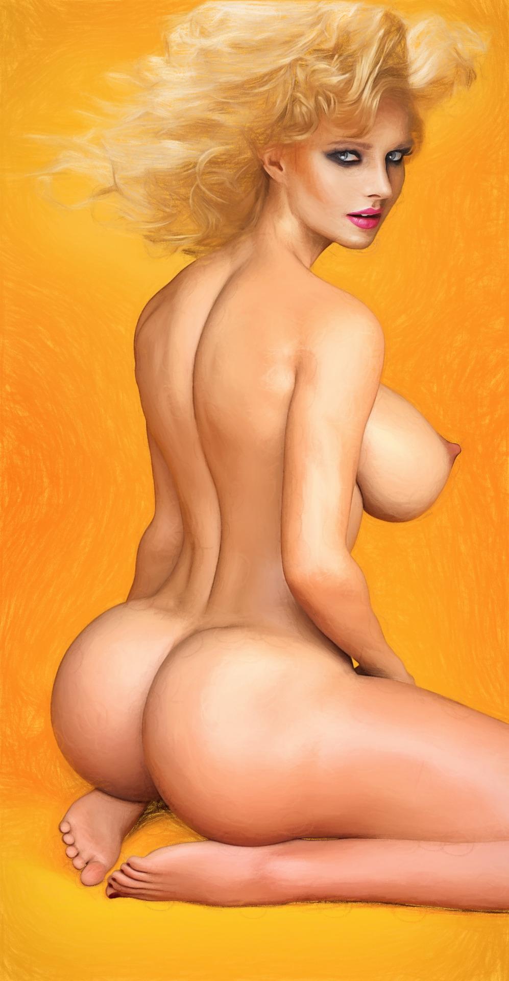 【二次エロ画像】写真みたい…立体感が生々しい油絵風の外人美女CGwww 28