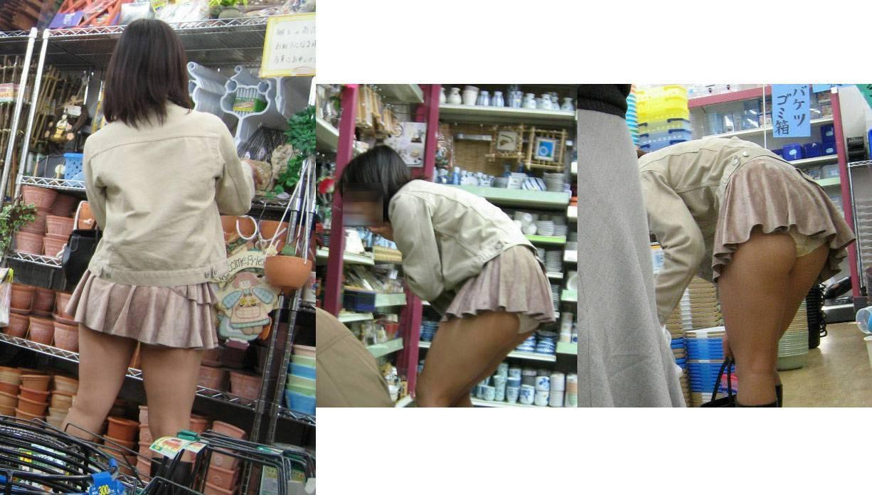 【パンチラエロ画像】天然の疑いも発生するうっかり女子の前屈みチラwww 19