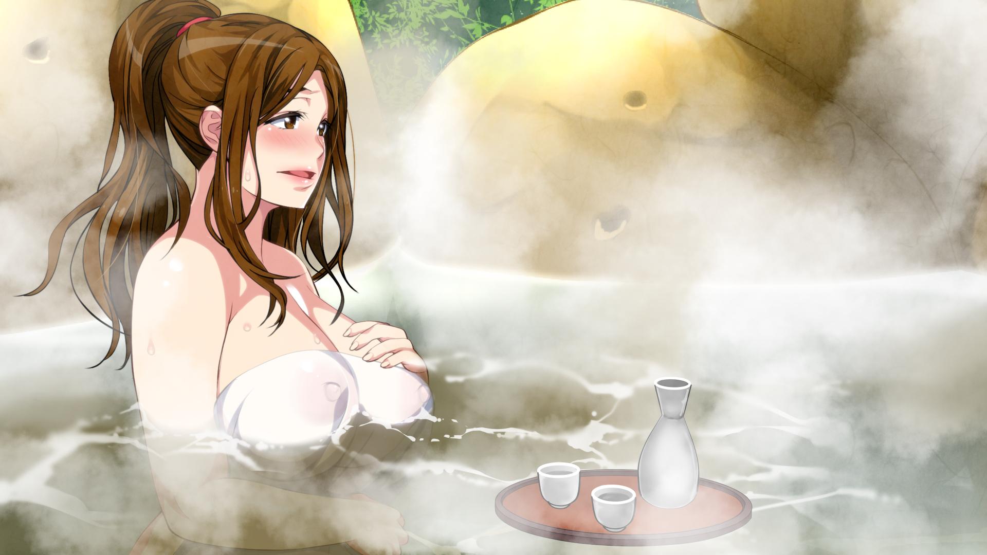 【二次エロ画像】一緒に入るなら後ろから抱き着きを希望w湯船に浸かる全裸美少女www 14