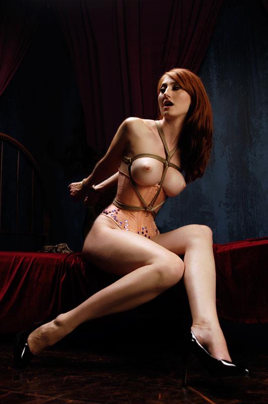 【SMエロ画像】巨乳に施したい縄ブラジャーというかただの緊縛放置www 10