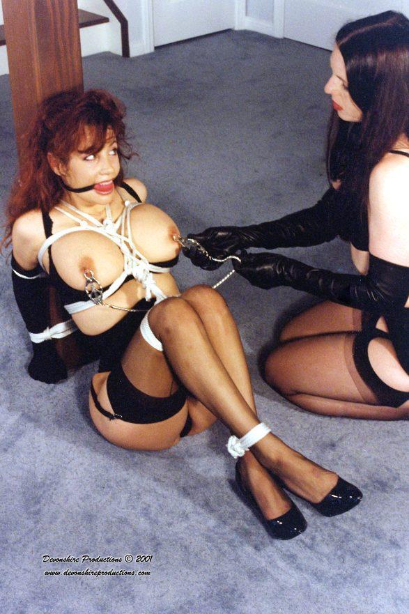 【SMエロ画像】巨乳に施したい縄ブラジャーというかただの緊縛放置www 25