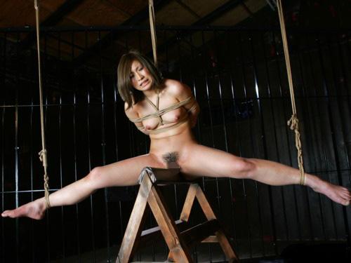 【SMエロ画像】鋭利な背中に乗って絶叫するM女たちの三角木馬拷問www 04