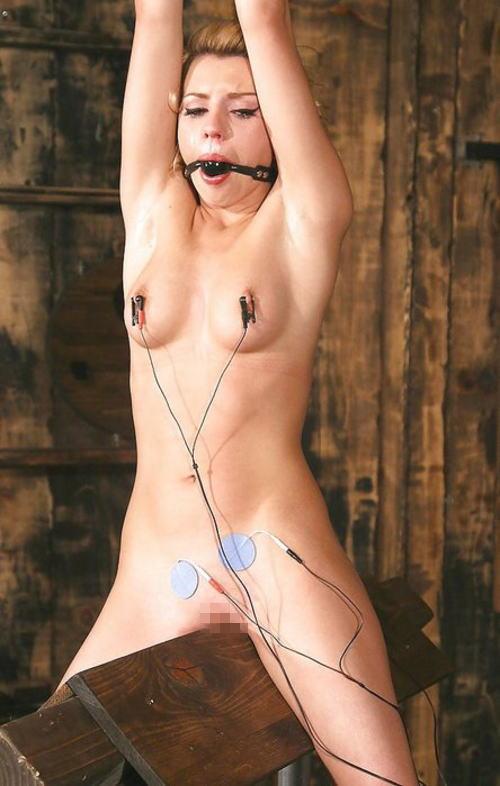 【SMエロ画像】鋭利な背中に乗って絶叫するM女たちの三角木馬拷問www 18