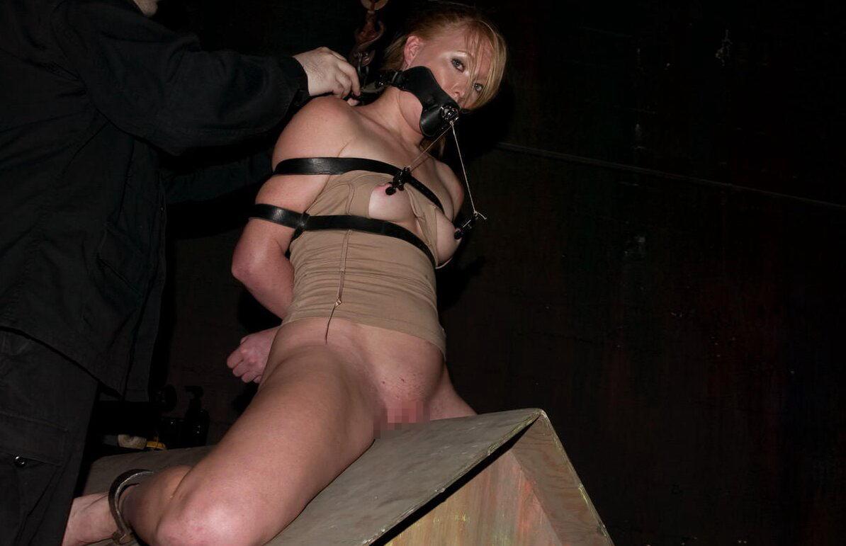 【SMエロ画像】鋭利な背中に乗って絶叫するM女たちの三角木馬拷問www 29