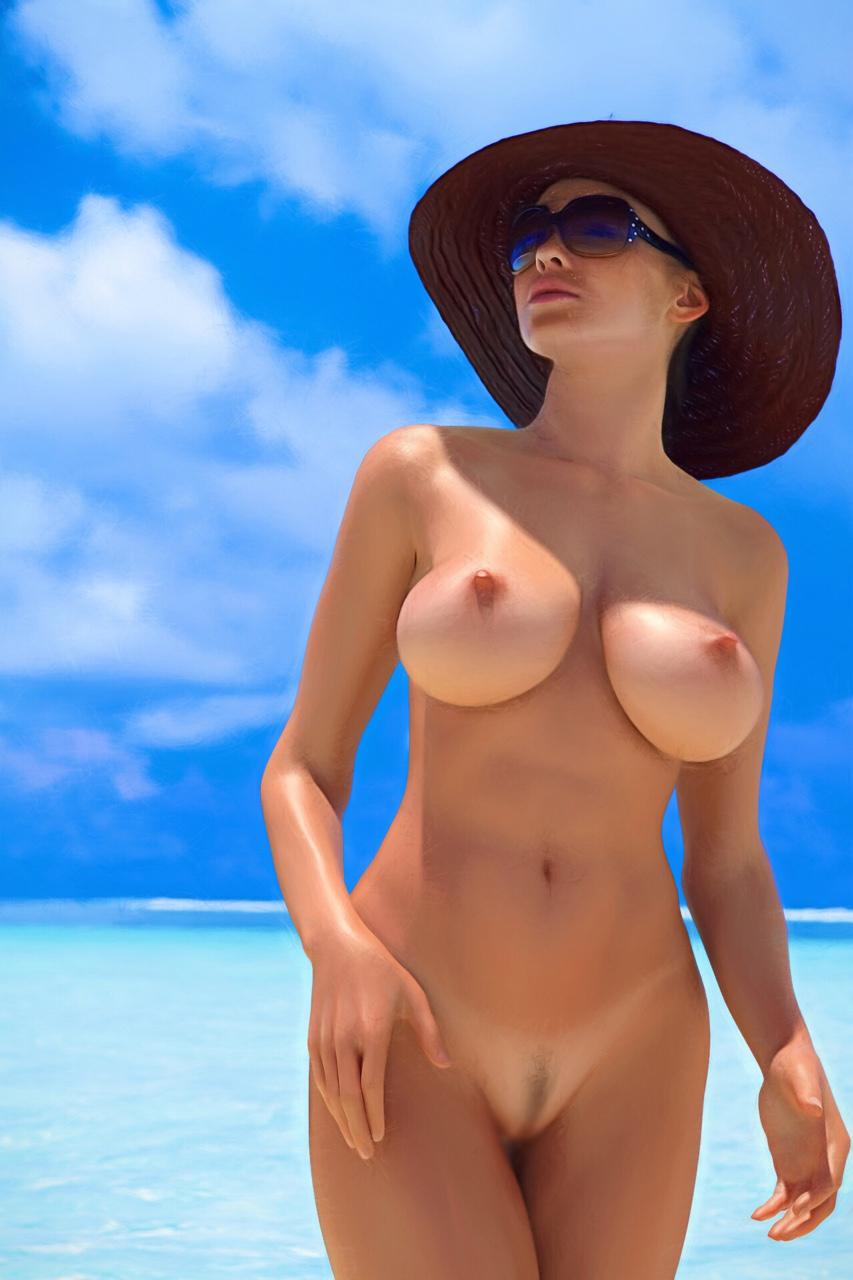 【くびれエロ画像】乳と尻のサイズも重要w理想以上のボンキュッボン!な西洋ボディwww 08