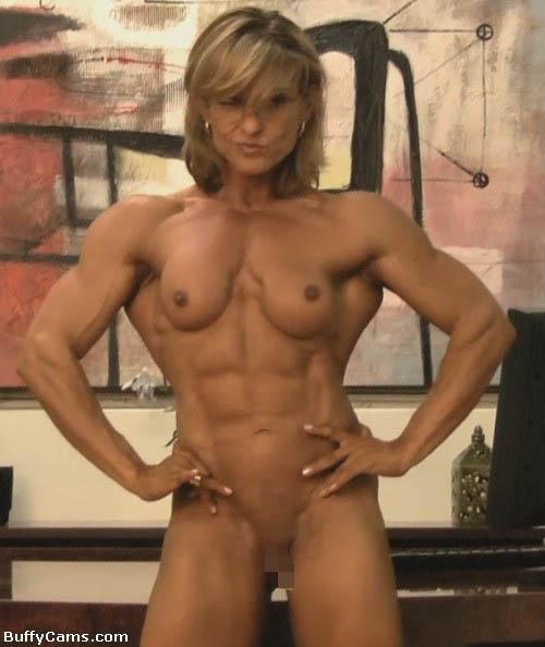 【筋肉美女エロ画像】許せるのはどこまで?マッチョ美女のヌード見比べwww 29