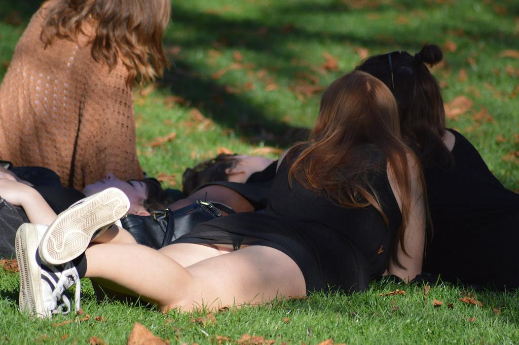 【パンチラエロ画像】草むらで隙だらけwパンツ見せ過ぎな外人さんの休日www 10