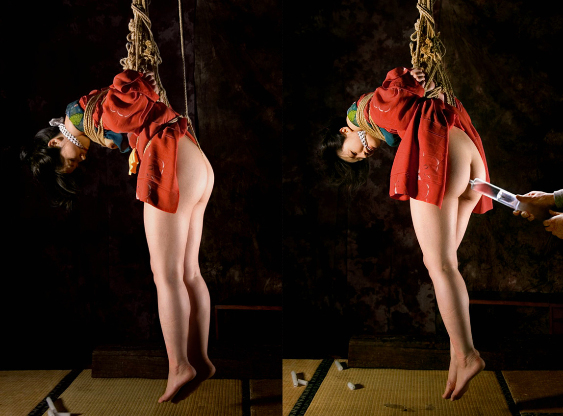 【SMエロ画像】この後待つのは大噴射…恥ずかしく苦しい浣腸される美尻www 06