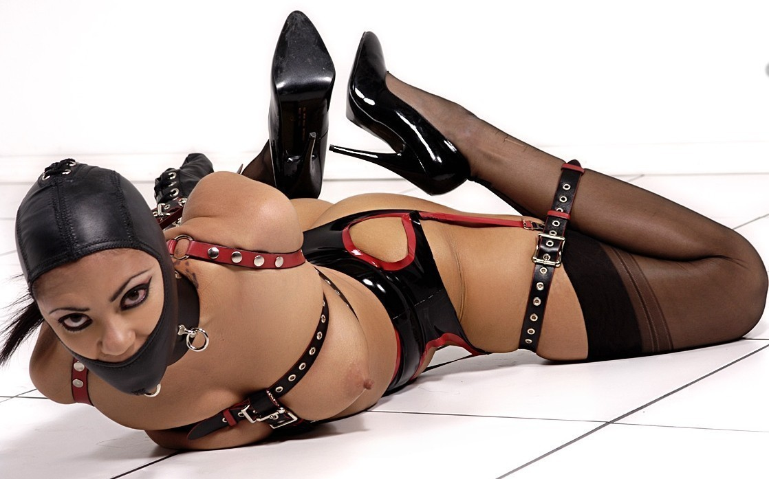 Wrists tied bondage topless