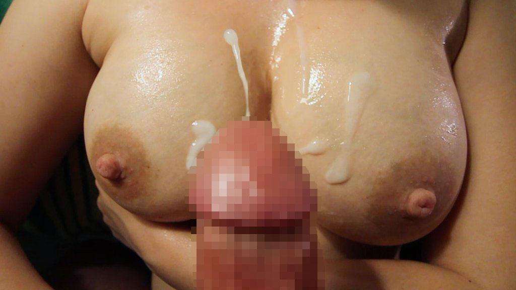 【ぶっかけエロ画像】最後は擦りつけて残り汁までw超爽快の生乳に放出www 30
